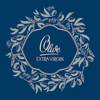 Étiquette naturelle bleue abstraite