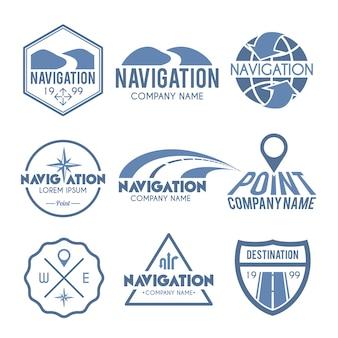 Étiquette de navigation gris
