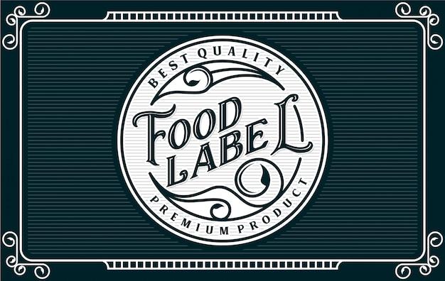 Etiquette de nourriture et de boisson
