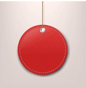 Étiquette d'offre spéciale de papier rouge avec corde avec filet de dégradé