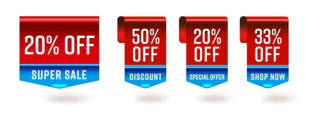 Étiquette d'offre spéciale de réduction super vente. ruban de signet