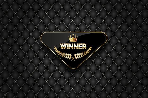 Étiquette d'or gagnante