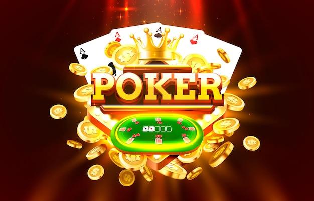 Étiquette d'or de poker