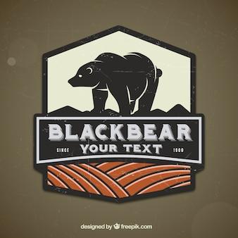 Étiquette ours rétro