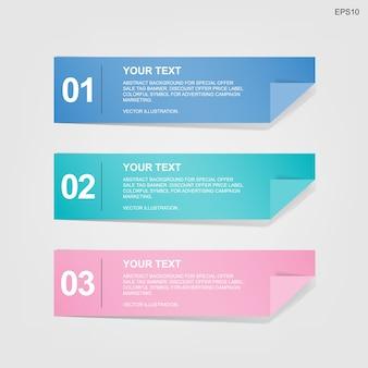 Étiquette de papier bannière pour l'arrière-plan du modèle d'entreprise