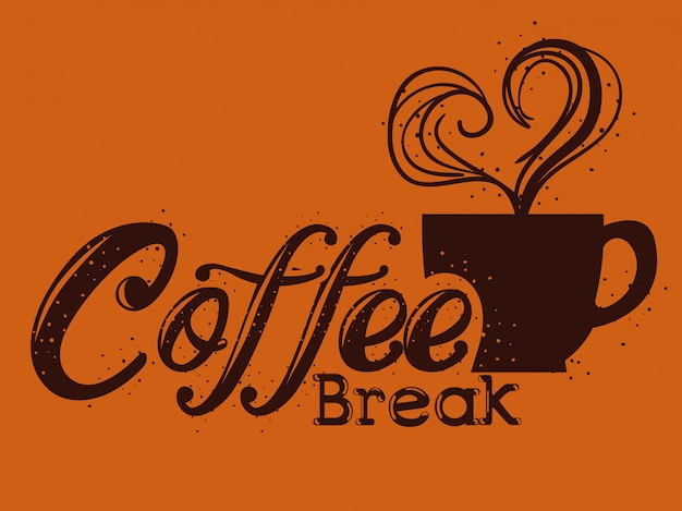 Étiquette de pause café délicieux