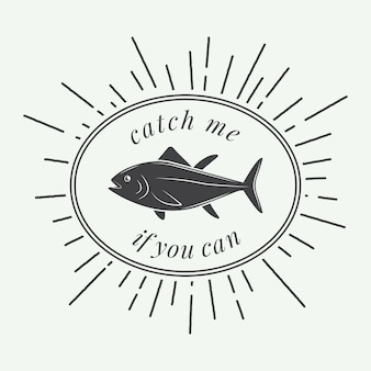 Étiquette de pêche