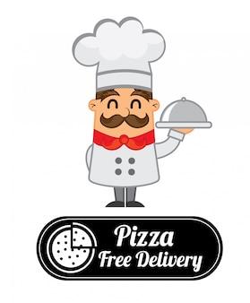 Étiquette de pizza