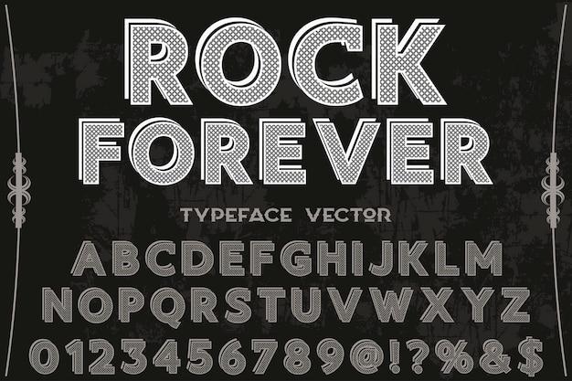 Étiquette de police design rock pour toujours