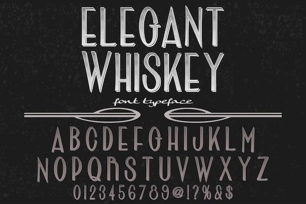 Étiquette de police design whisky élégant