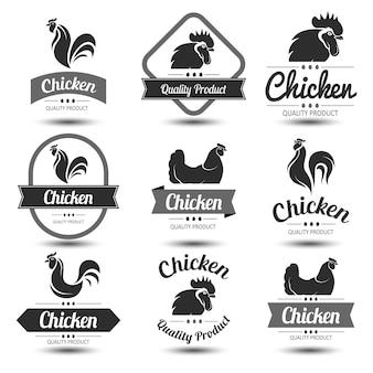 Étiquette de poulet