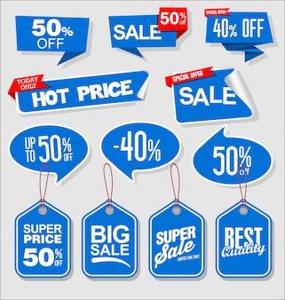 Étiquette de prix collection bleu moderne