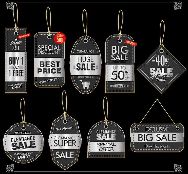 Étiquette de prix collection vintage rétro