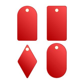 Étiquette de prix ou étiquettes rouges. design élégant