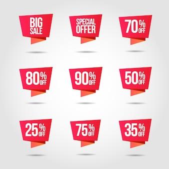 Etiquette de prix d'offre à prix réduit