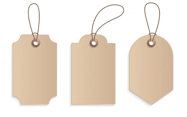 Étiquette de prix de papier artisanal réaliste