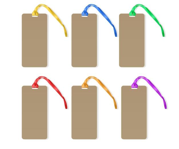 Étiquette de prix réaliste avec des cordes