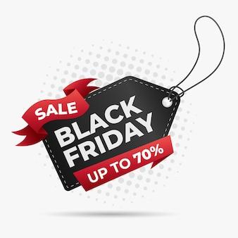 Étiquette de prix de vendredi noir pour bannière de vente promotionnelle