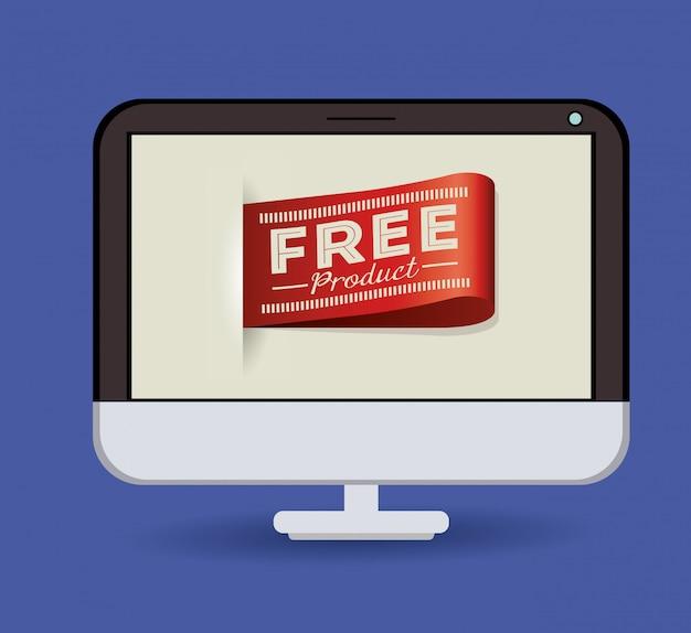 Etiquette produit gratuite sur ordinateur