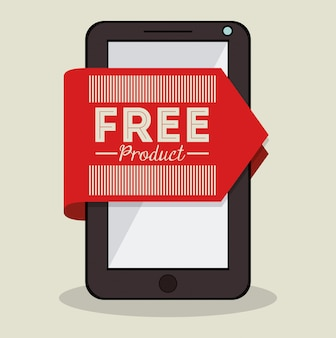Etiquette produit gratuite sur smartphone