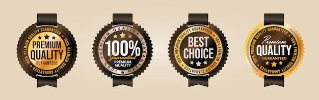 Étiquette de produit de qualité supérieure et du meilleur choix