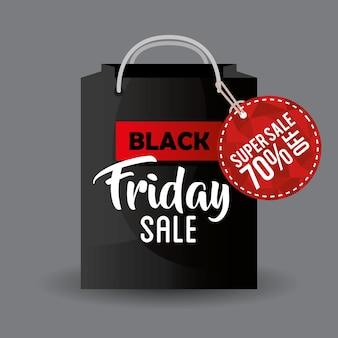 Étiquette de promotion vendredi noir