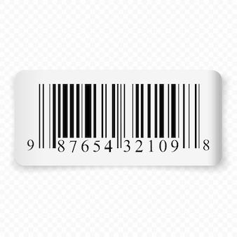 Étiquette réaliste 3d avec code-barres isolé