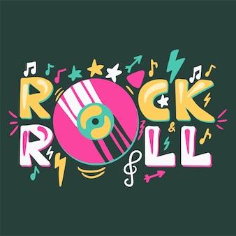 Étiquette rétro rock n roll