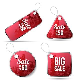 Étiquette rouge pour la texture de promotion de vente