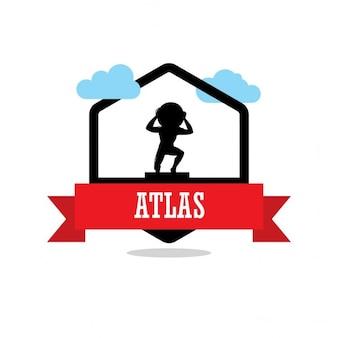Étiquette de ruban atlas