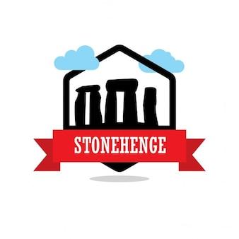 Étiquette de ruban stonehenge