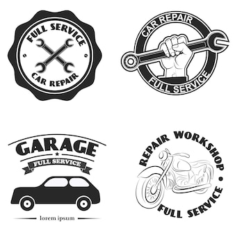 Étiquette de service de voiture