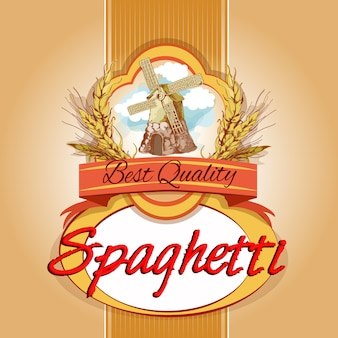 Étiquette de spaghetti