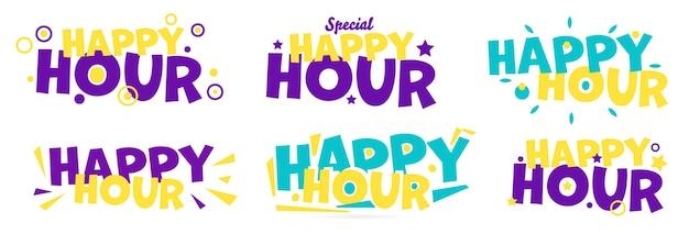 Étiquette spéciale couleur happy hours