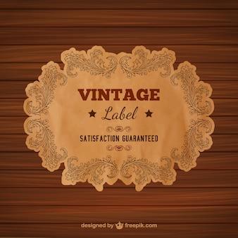 Étiquette de style vintage