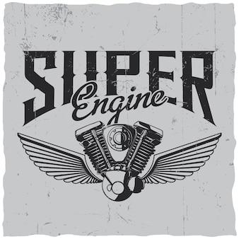 Étiquette super engine