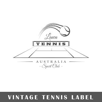 Étiquette de tennis isolé sur fond blanc