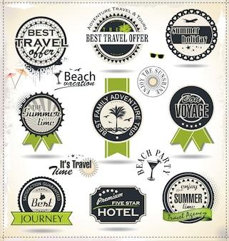 Étiquette de vacances d'été et de temps de voyage