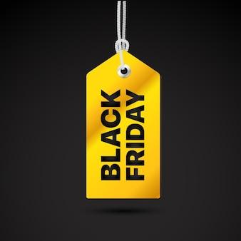 Étiquette de vecteur de vendredi noir étiquette de vecteur de vente vendredi noir