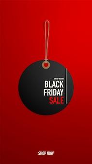 Étiquette de vendredi noir ou modèle de bannière ou d'étiquette pour le web.