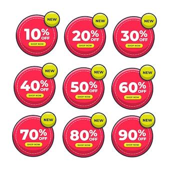 Étiquette vente discount prix icône illustration