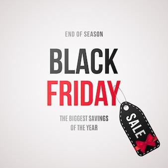 Étiquette de vente du vendredi noir. bannière de vente avec texte et étiquette de vente.