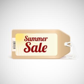 Étiquette de vente d'été