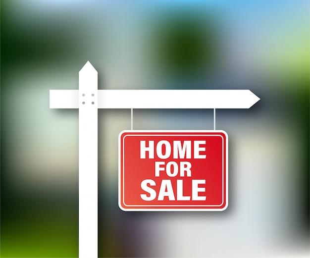 Étiquette de vente. maison à vendre signe pour la conception marketing. illustration de stock.