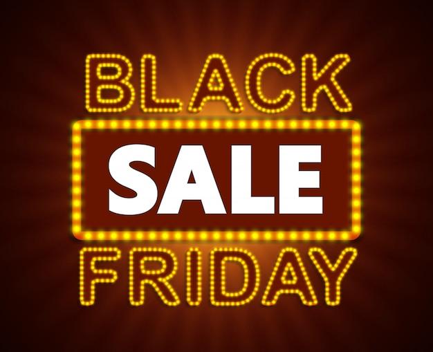 Étiquette de vente noire vendredi, autocollant et coupon.