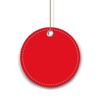 Étiquette de vente rouge isolée