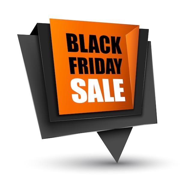 Étiquette de vente vendredi noir.