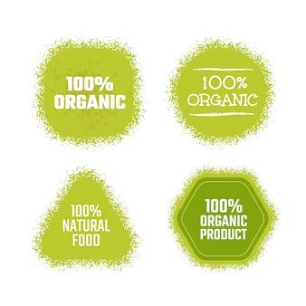 Étiquette verte de produit biologique. autocollant