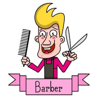 Étiquette vintage barber,