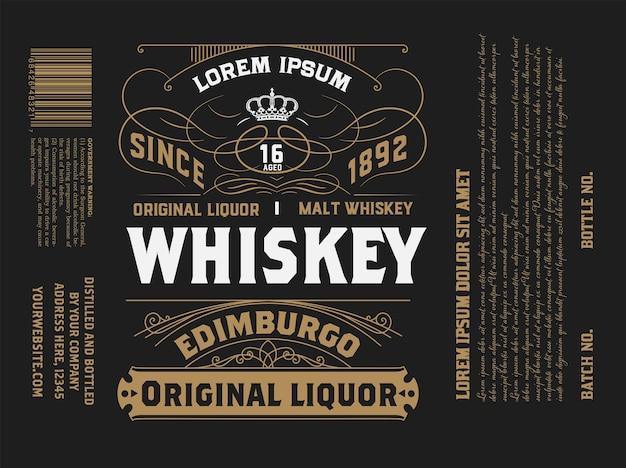 Étiquette vintage pour l'emballage. style occidental avec des détails floraux.